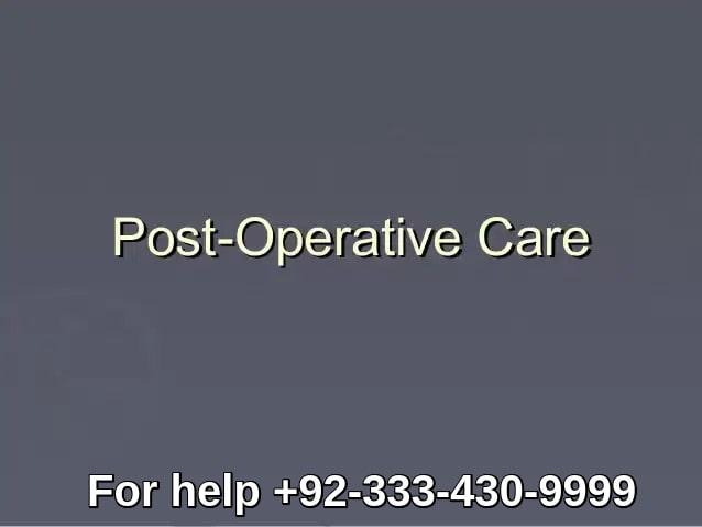 Hair transplant post operative care Lahore